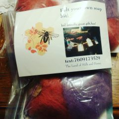 Diy Felted soap kit...with out soap