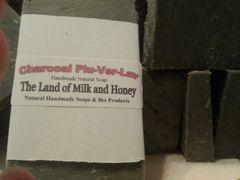 Charcoal plu ver lav goat Milk and Honey soap