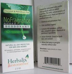 NO ADDED FRAGRANCE DEODORANT 2.5 oz