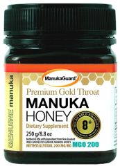 MANUKAGUARD HONEY PREMIUM GOLD THROAT 8+ MGO 200