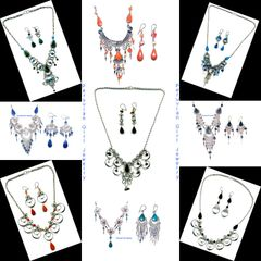 20 STONE SETS NECKLACES EARRINGS PERUVIAN JEWELRY