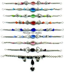 20 CATS EYE BEAD BRACELETS PERUVIAN WHOLESALE