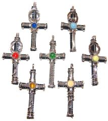 10 CROSSES HANDMADE PENDANTS PERUVIAN