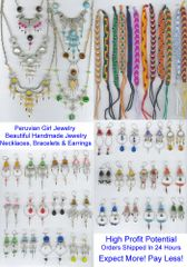 128 PIECE GLASS LOT - BRACELETS, EARRINGS, NECKLACES