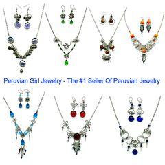 10 GLASS SETS NECKLACES EARRINGS PERU WHOLESALE