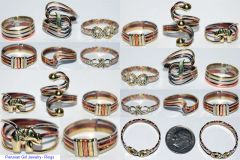 10 RINGS BRONZE COPPER ALPACA SILVER PERUVIAN WHOLESALE
