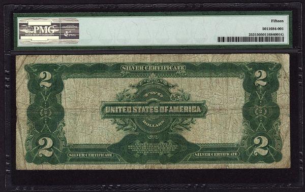 1899 Two 2 Dollar Silver Certificate PMG 15 Choice Fine Fr.253 | www ...