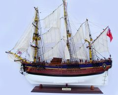 HMS BARK ENDEAVOUR Painted Model Tall Ship 36""
