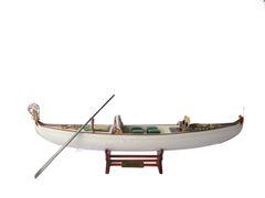 "Venetian Gondola Italian Rowing Boat White Green Assembled 23"""