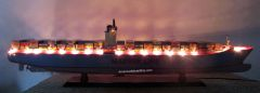 """MAERSK EMMA Container Ship Model 41"""" With LED Light"""