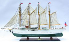 Esmeralda Chilean Training Tall Ship Wooden Model 37""