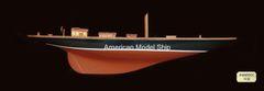 "SHAMROCK HALF HULL Model Ship 36"""