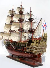 HMS Sovereign of the Seas 1637 Tall Ship Wooden Model 28""