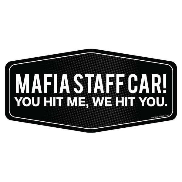 Mafia staff car car sticker