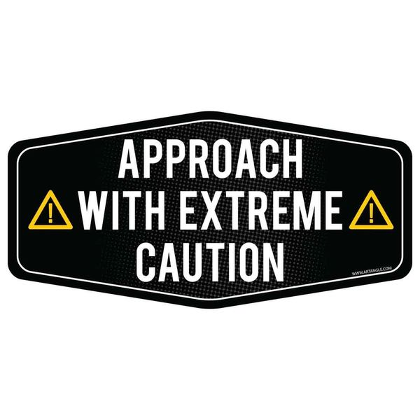 Approach with extreme caution car sticker