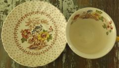 "Four ""Grantham"" Cup & Saucer sets"