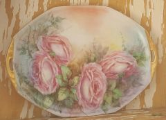 Hand painted Roses Platter