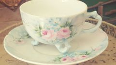 Hand Painted China cup and saucer