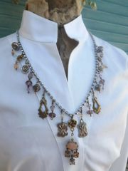 Charm Necklace in Gold, Silver & Blush