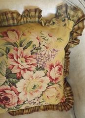 Aged Yellow Floral Pillow