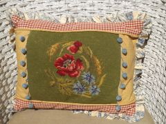 Cross stitch Country French Pillow