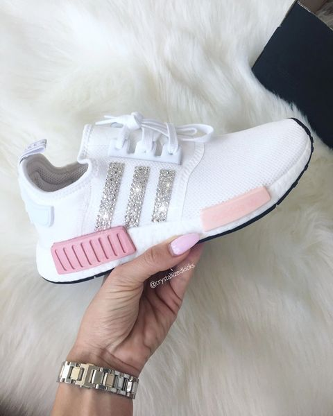 aa4623fce Adidas NMD Runner Made with SWAROVSKI® Xirius Rose Crystals - White Icy Pink