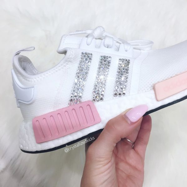 e7f004fd0e71 Adidas NMD Runner Made with SWAROVSKI® Xirius Rose Crystals - White Icy Pink