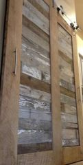 Reclaimed wood sliding barn door