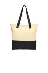 Port Authority® Colorblock Cotton Tote BNS