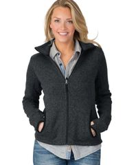 Charles River Women's Heathered Fleece Jacket HBG