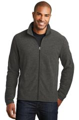 Port Authority® Heather Microfleece Full-Zip Jacket HBG