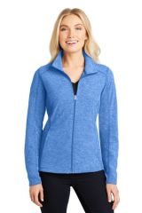 Port Authority® Ladies Heather Microfleece Full-Zip Jacket RHR