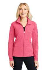 Port Authority® Ladies Heather Microfleece Full-Zip Jacket HBG