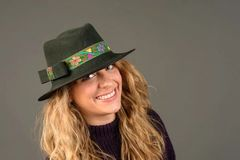 Green Wool Felt Fedora