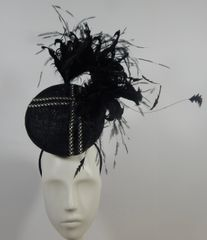 Black 3D Percher Hat, great for Kentucky Derby, Ascot or other special Event