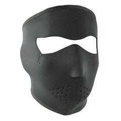 Plain Black Neoprene Facemask
