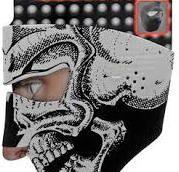 B/W Skull Neoprene Facemask