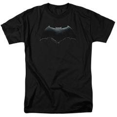 Justice League Batman Logo Black Short Sleeve Adult T-shirt