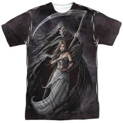 Annie Stokes Summon the Reaper White Front and Back Print Short Sleeve Adult T-shirt
