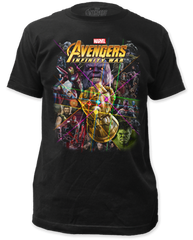 The Avengers Infinity Wars Infinity War Black Short Sleeve Adult T-shirt