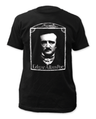 Edgar Allen Poe Black Short Sleeve Adult T-shirt