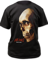 Evil Dead 2 Color Poster Black 100% Cotton Adult T-shirt