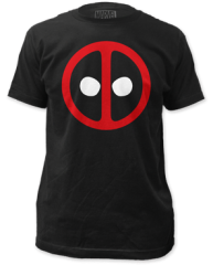 Deadpool Logo Black Short Sleeve Adult T-shirt