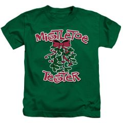 Christmas Mistletoe Tester Junvenile T-shirt