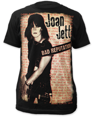 Joan Jett Bad Reputation Black Sublimation Print Short Sleeve Adult T-shirt