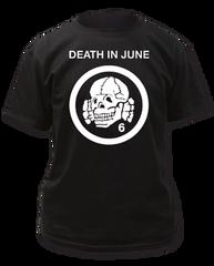 Death in June Totenkopf 6 Logo Black Cotton Short Sleeve Adult T-shirt