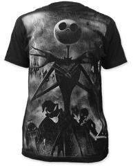 The Nightmare Before Christmas Rainstorm Black Short Sleeve Adult T-shirt
