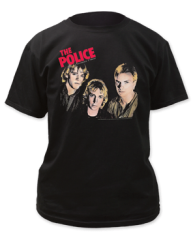 The Police Outlandos D'Amour Black Short Sleeve Adult T-shirt