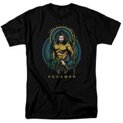 Aquaman Nouveau Black Short Sleeve Adult T-shirt