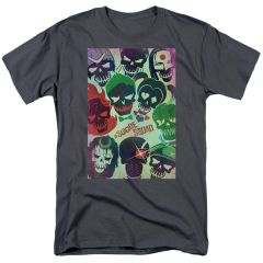 Suicide Squad Poster Charcoal Short Sleeve Adult T-shirt
